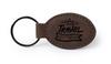 Bay Brown Oval Keychain