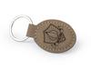 Laser Engraved Leatherette Keychain