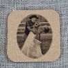 "Custom Laser Engraved 4"" Cork Coasters"
