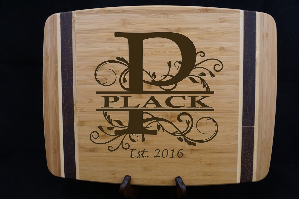 Custom Laser Engraved Monogram Products