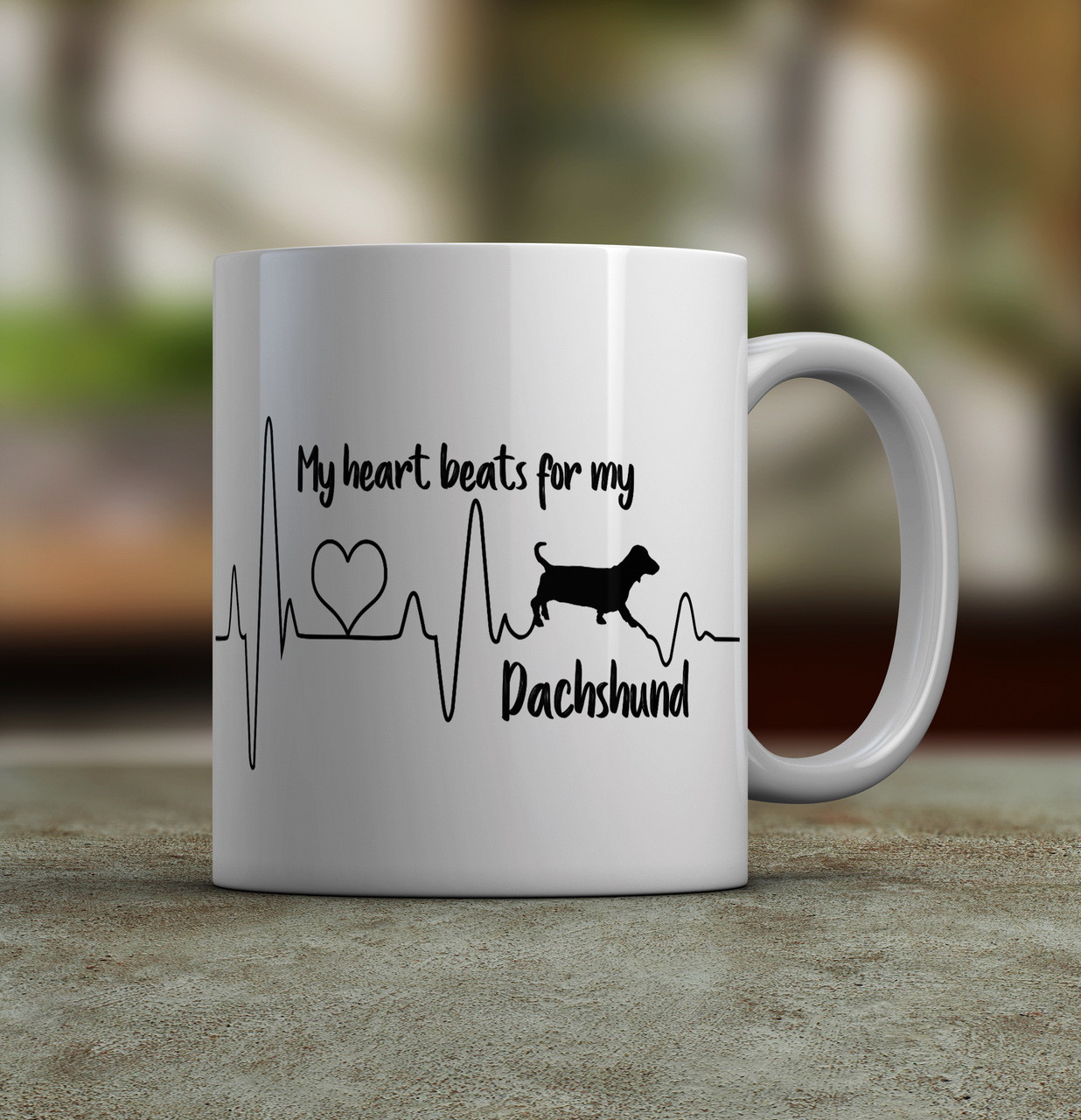 4cb8e6c0e20 I Love my Dachshund Coffee Mug