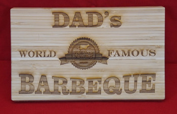 Custom engraved cutting board. 9.5 x 6 inches.