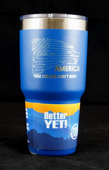 Tattered Flag 30 Ounce Powder Coated Tumbler