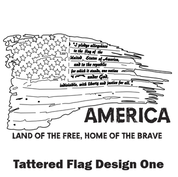 Tattered Flag Design One