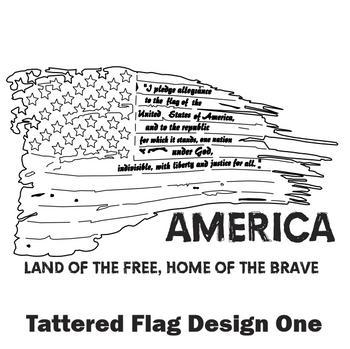 Tattered Flag Design One
