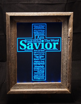 LED Lighted and Framed Cross