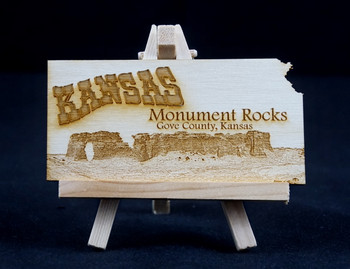 Monument Rocks Postcard--Magnet