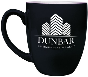 16 Ounce Black Bistro Coffee Mug