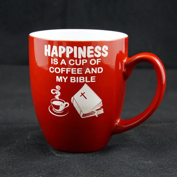 16 Ounce Red Bistro Coffee Mug