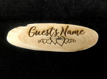 Driftwood Name Tag Design A