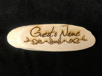 Driftwood Name Tag Design B