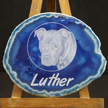 Your Photo Laser Engraved on Agate Slice