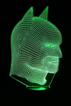 Batman LED Lamp Green Color
