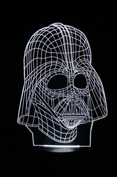 Darth Vader White LED Lamp