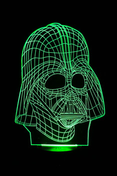 Darth Vader Green LED Lamp