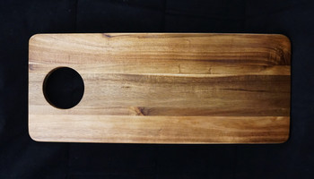 "Large Sized  20"" x 8.25"" x .69"" Acacia Serving Board"