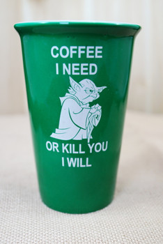 Coffee I need...or kill you I will 14 ounce latte mug