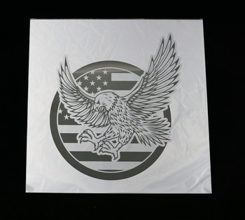 "12"" x 12"" Eagle and Flag Mirror"