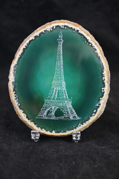 Eiffel Tower Agate Slice