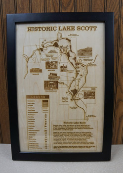 Historic Scott County Lake Laser Engraved Map