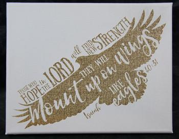 Isaiah 40:31 Laser Engraved Canvas Wall Art