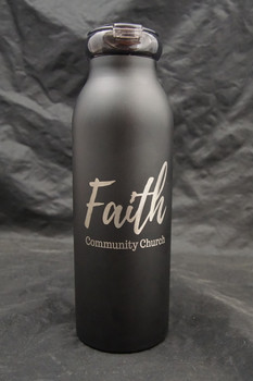 20 Ounce Vacuum Insulated Laser Engraved Water Bottle