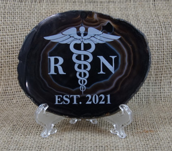 Black Agate with Nurse Symbol