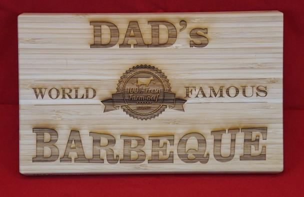 Custom engraved cutting board. 9.5 x 6 inches.