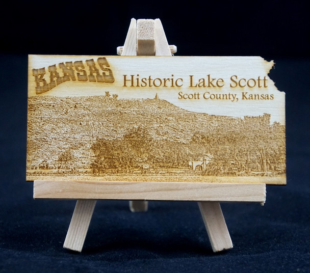 Historic Lake Postcard--Magnet