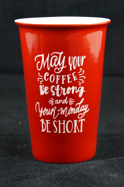 14 Ounce Laser Engraved Latte Cup with Lid