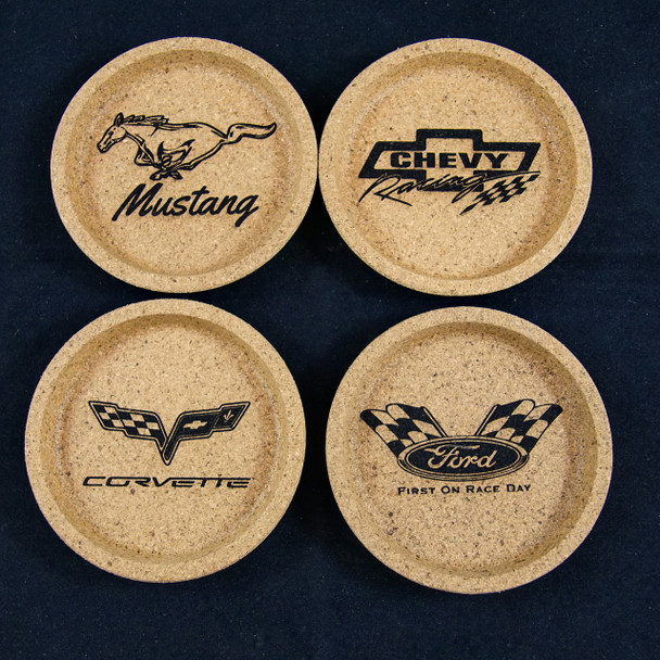 Custom Engraved Cork Coasters