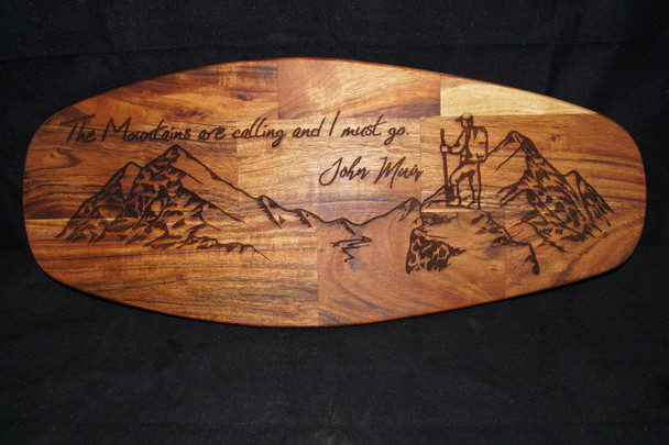 Laser Engraved Large Mango Cutting Board