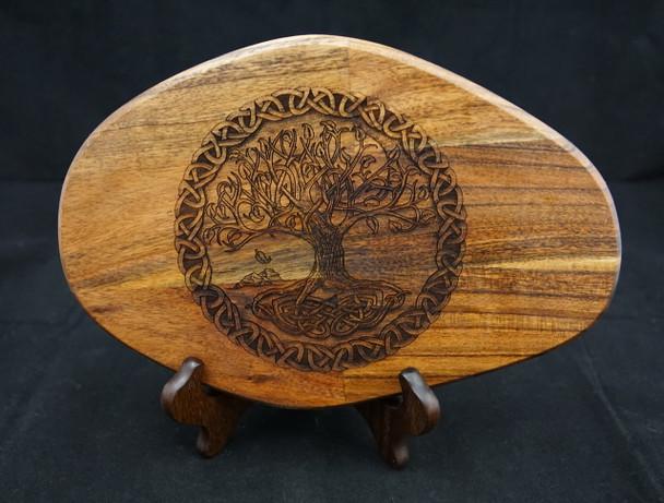 Celtic Tree of Life Laser Engraved Mango Wood Cutting Board