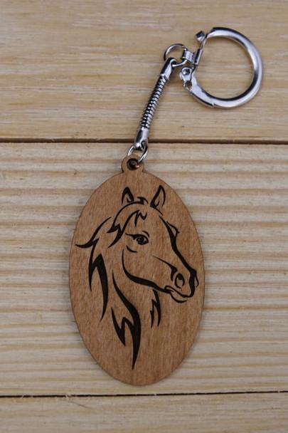 Laser Engraved Horse Keychain