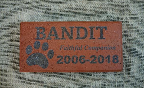 Laser Engraved Pet Memorial Brick