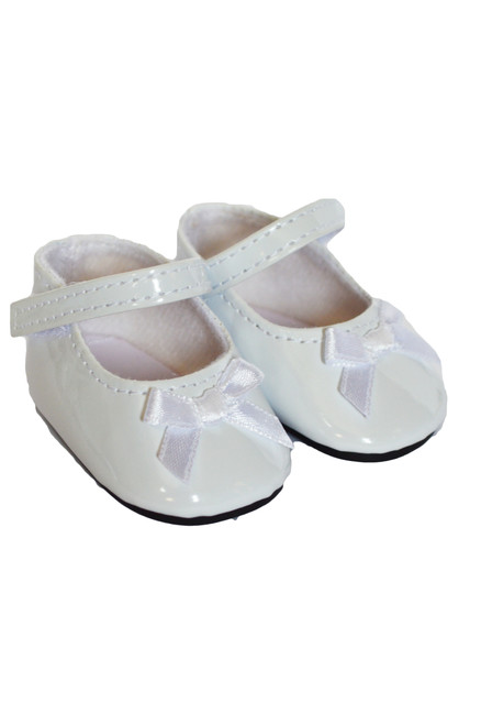 White Bow Mary Janes
