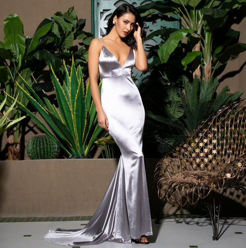 Mila Label Grace K Gown - Silver