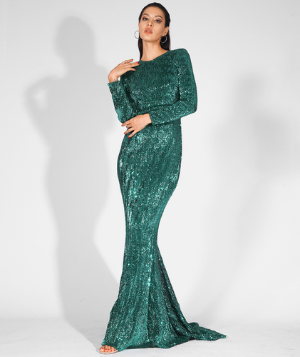 Mila Label Amirah Gown - Emerald