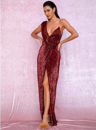 Octavia Gown - Wine Red