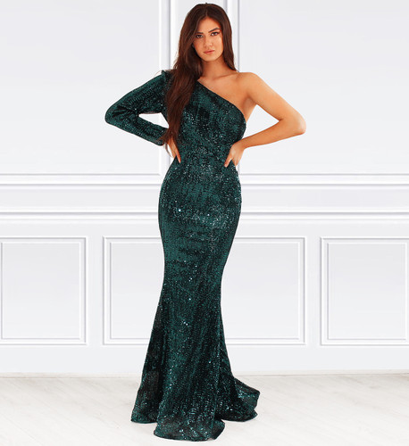 Lacey Gown - Emerald