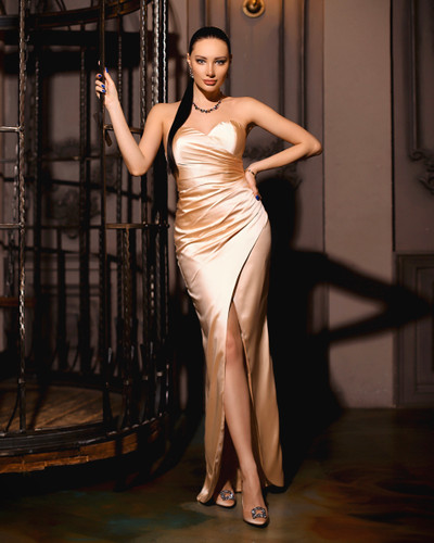 JP102 Gown - Champagne
