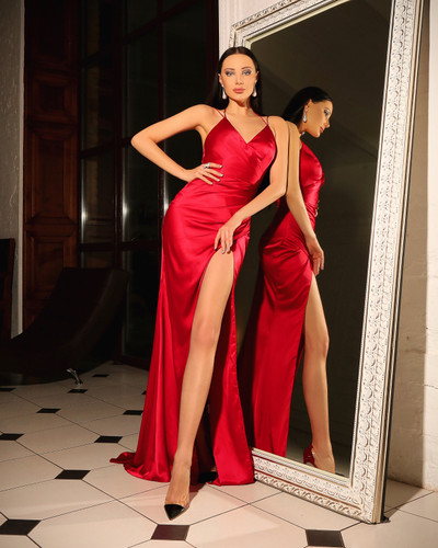 JP104 Gown - Ruby