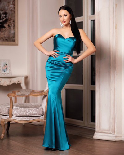 JP107 Gown - Turquoise