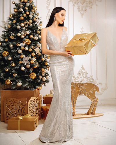Jadore JP111 Gown - Silver