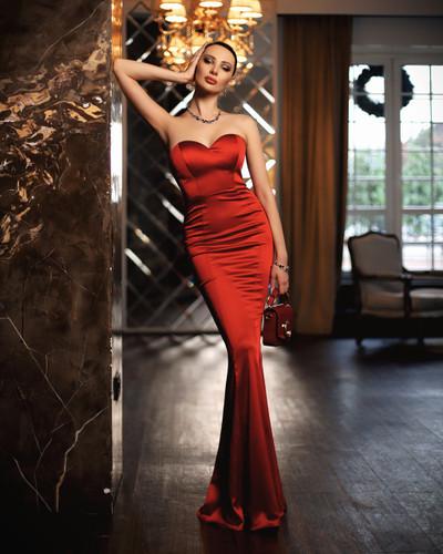 Jadore JP114 Gown - Ruby