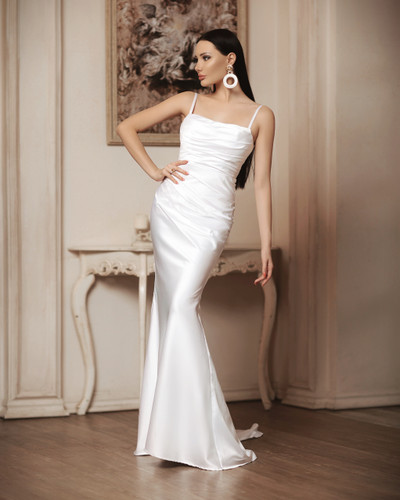 Jadore JP116 Gown - White