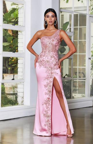 Jadore JX4007 Gown - Pink