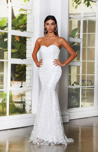 Jadore JX4062 Gown - Ivory/Ivory