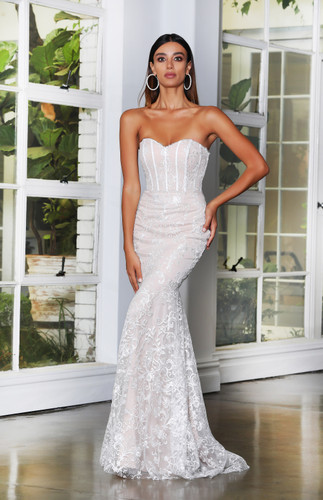 Jadore JX4062 Gown - Ivory/Nude