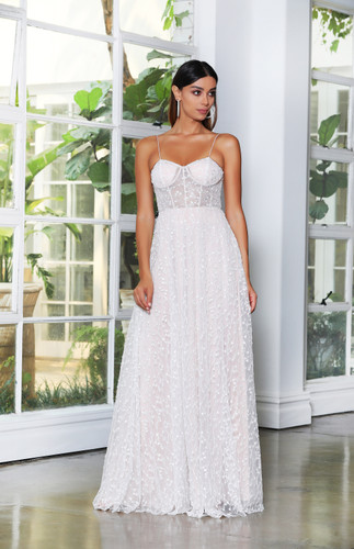 JX4065 Gown - Ivory/Nude